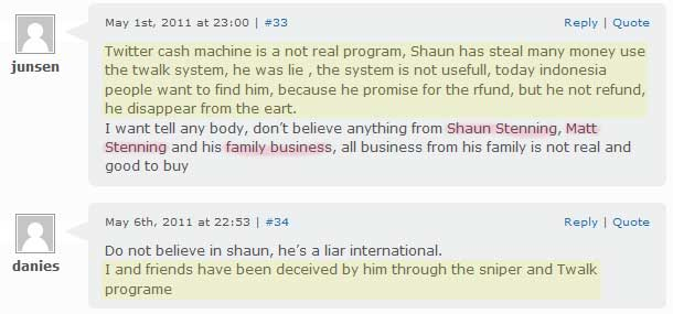 Fact about Shaun Stenning scam program